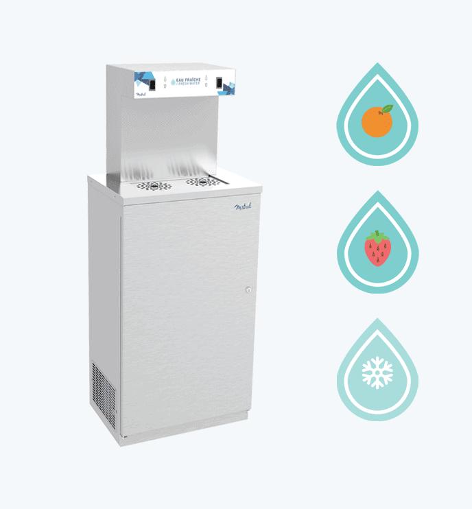 Refroidisseur eau gazeuse et eau froide rdv 475v for Fabricant fontaine a eau